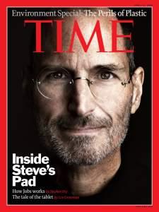 Steve Jobs on Time cover